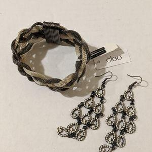 Silver/Black Multiple Chain Bracelet